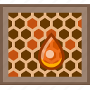 beehive, beekeeping, garden, hive, honey, honeycomb, yumminky icon