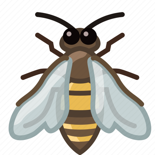 bee, beekeeping, garden, insect, nature, worker, yumminky icon