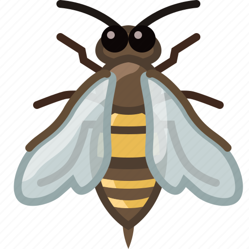 bee, beekeeping, garden, insect, work, worker, yumminky icon