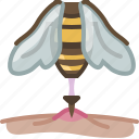 bee, beekeeping, garden, insect, pang, sting, yumminky icon