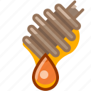 beekeeping, drop, garden, honey, honey dipper, sweet, yumminky icon