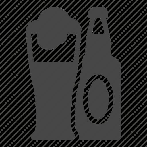 beer, beer bottle, bottle, drink, glass icon