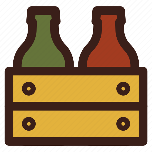 beer, bottles, brewing, crate icon