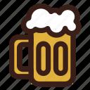 beer, brewing, head, mug