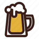 beer, brewing, head, mug icon