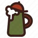 beer, brewing, head, stein icon