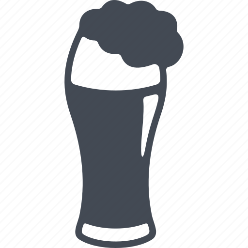 alcohol, beer, glass, glass of beer, wineglass icon