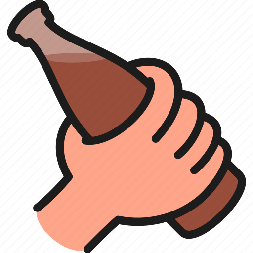 bar, beer, bottle, brewery, hand, hold, pub icon