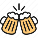 bar, beer, brewery, cheer, glass, pub, toast icon