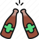 bar, beer, bottle, brewery, cheer, pub, toast icon