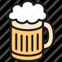 alcohol, bar, beer, brewery, malt, mug, pub icon