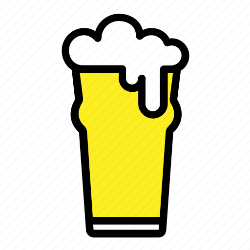 alcohol, bar, beer, beer glass, drinks, pub icon