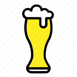 bar, beer, beer glass, drinks, glass, pub icon