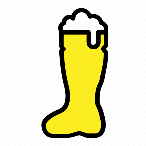 alcohol, beer, beer shoe, boot, drinks, pub, shoe icon