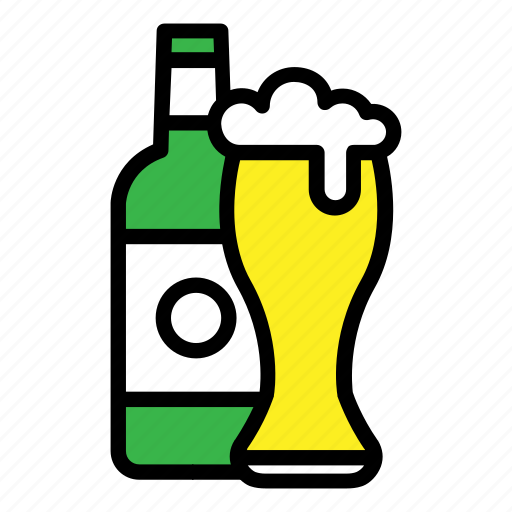 alcohol, bar, beer, beer bottle, drinks, party, pub icon