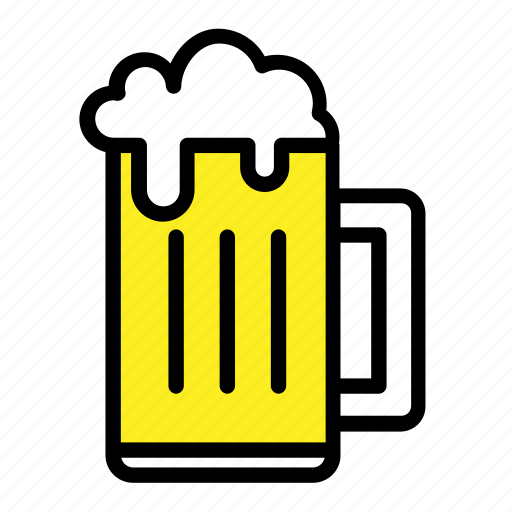 bar, beer, beer mug, drinks, mug, party, pub icon