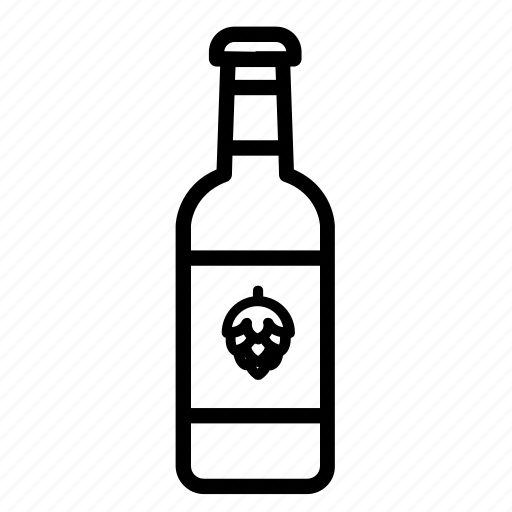 alcohol, beer, beer bottle, bottle, drinks icon