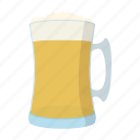 alcohol, beer, cartoon, drink, froth, glass, mug icon