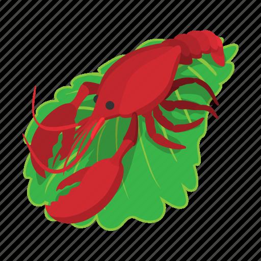 beer, cartoon, cooked, crab, crayfish, food, lobster icon
