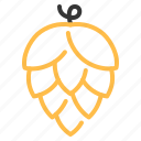 beer, brewery, flower, hop, leaf, plant icon
