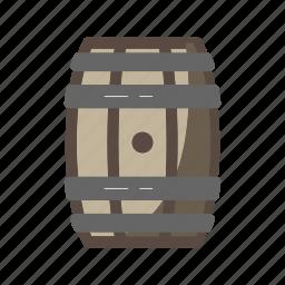 alcohol, barrel, beer, beverage, bourbon, whiskey, wine icon