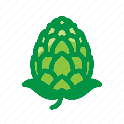 alcohol, ale, beer, beverage, hop, hop cone, hoppy icon