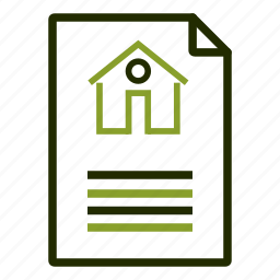 agreement, contract, house, loan, papers icon