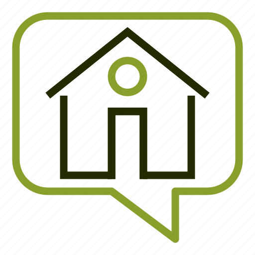 apartment, building, home, hourse, message icon