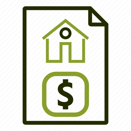 calculation, document, house, mortgage, price icon