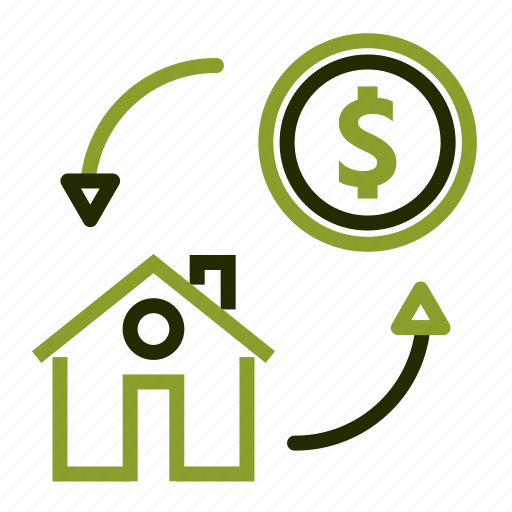 chart, dollar, facilities, growth, house icon