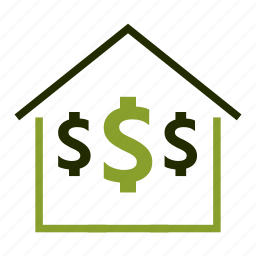 dollar, home, investment, loan, price icon
