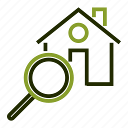 explore, house, loan, magnifier, property icon
