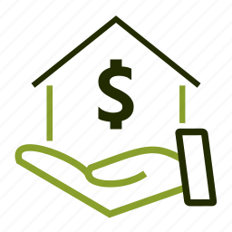 home, investments, loan, mortgage, price icon