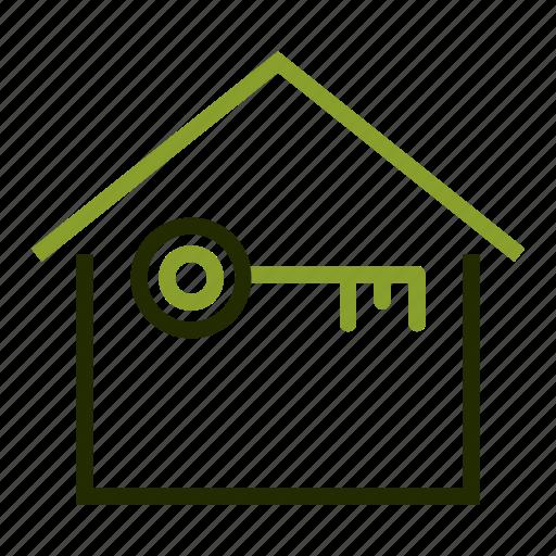 estate, home, key, loan, property icon