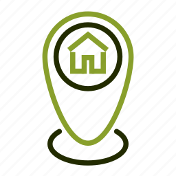 home, house, location, maker, pin icon