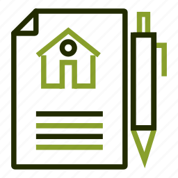 agreement, contract, document, lease, mortgage icon