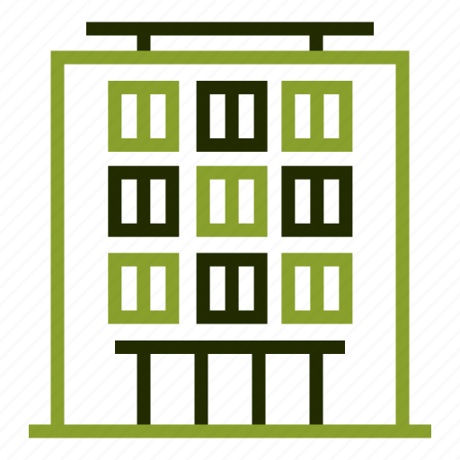 apartment, building, home, house, residence icon