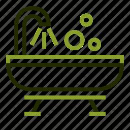 bath, bathroom, bathtub, restroom, shower icon