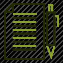 board, clip, document, file, pen icon