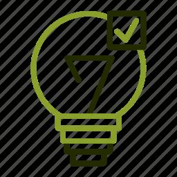 bulbelectricity, energy, light, power icon