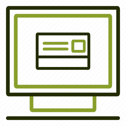 card, computer, credit, online, payment icon