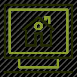 computer, desktop, internet, online, research icon