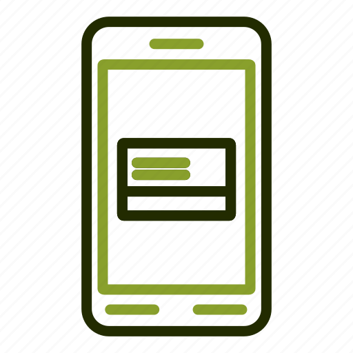 card, credit, online, payment, smartphone icon