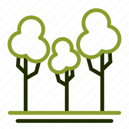 forest, garden, nature, park, tree icon