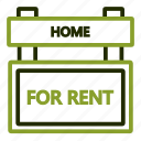 estate, real, rent, renting, sign icon