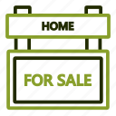 estate, real, sale, selling, sign icon