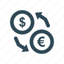 currency, currency exchange, dollar, dollar exchange, money exchange icon icon