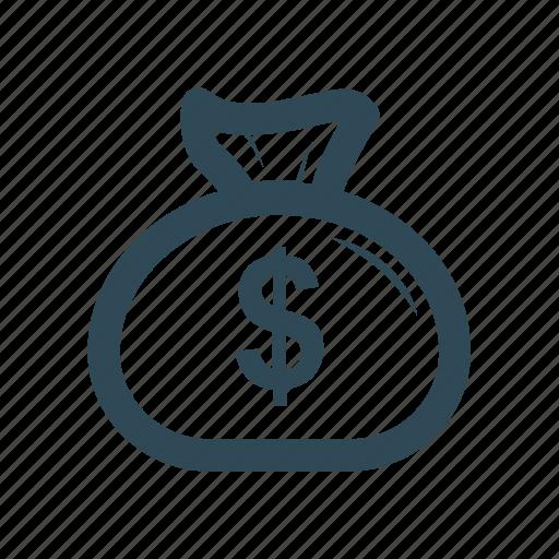 bag, dollar, money, pound icon icon