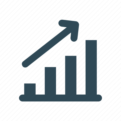 business, chart, graph, growth, increase, market, up icon icon