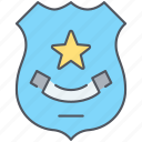 badge, medal, police, policeman, protection, safety, security icon